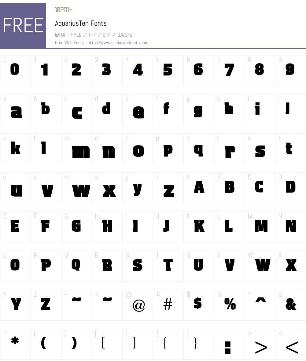 Aquarius Font Screenshots