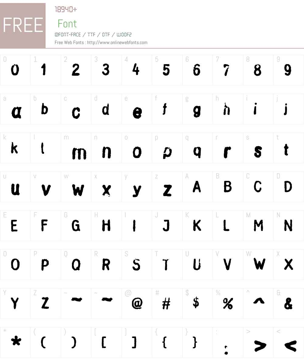 StampGothic Font Screenshots