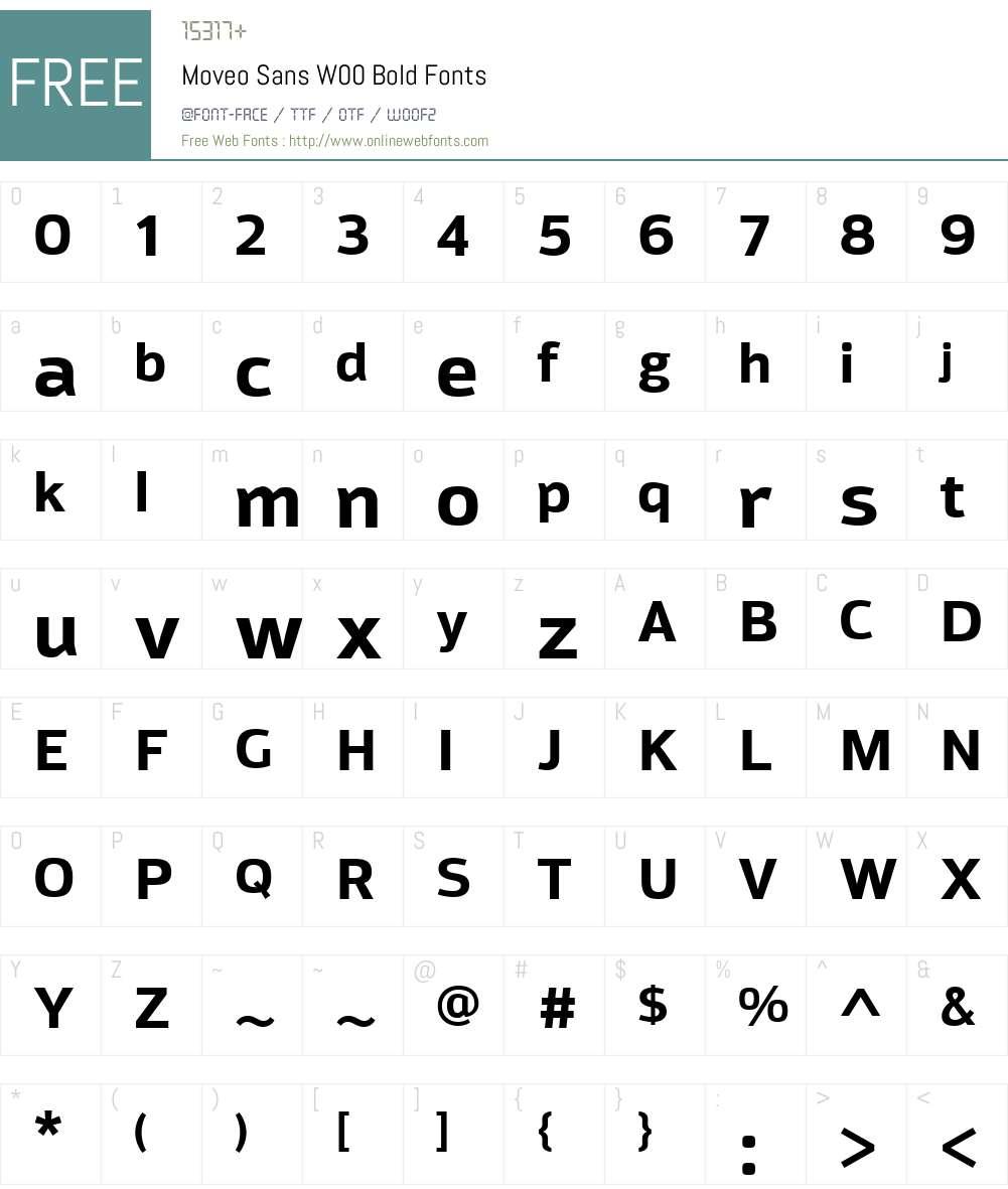 MoveoSansW00-Bold Font Screenshots