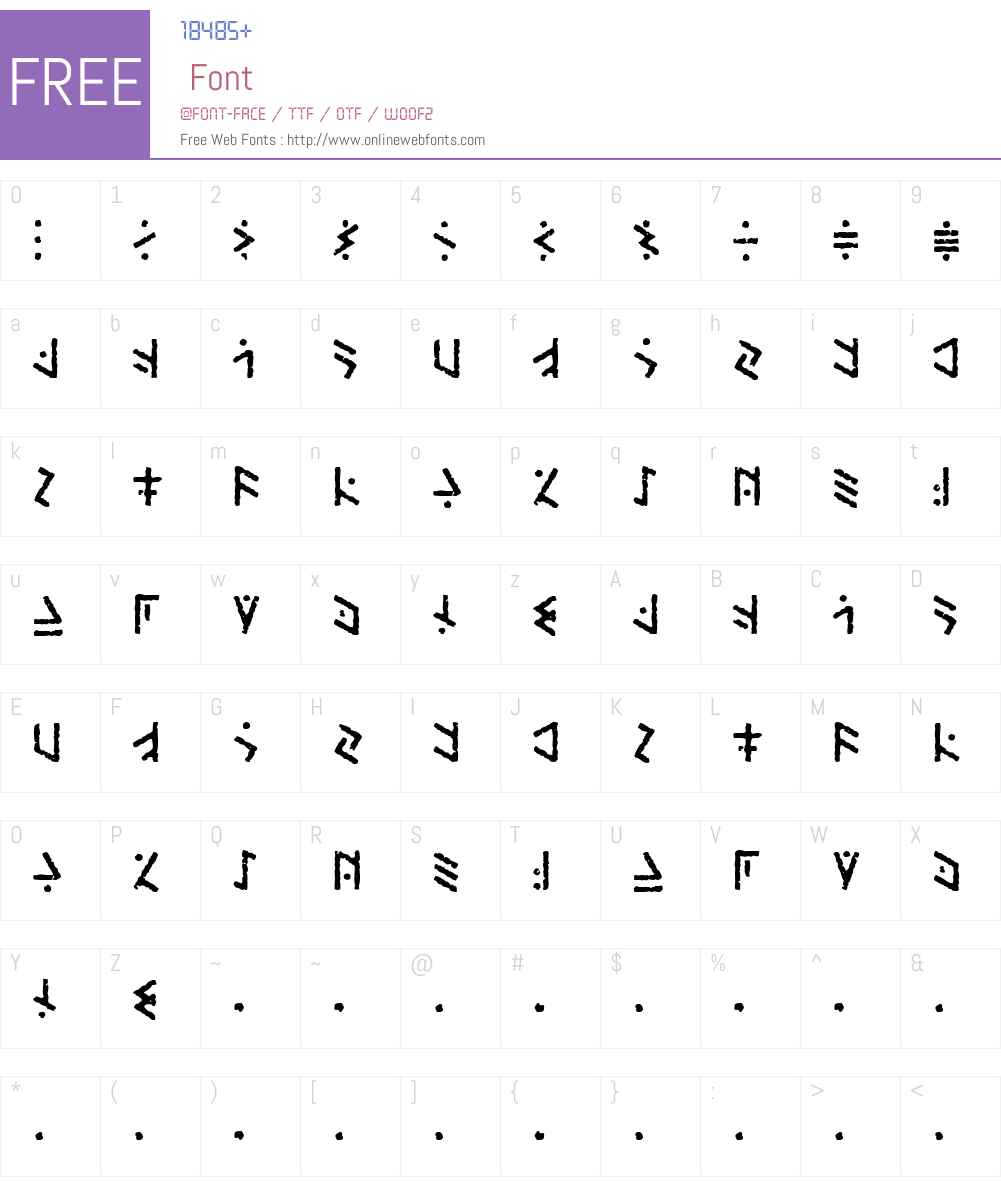 Temphis Brick Font Screenshots