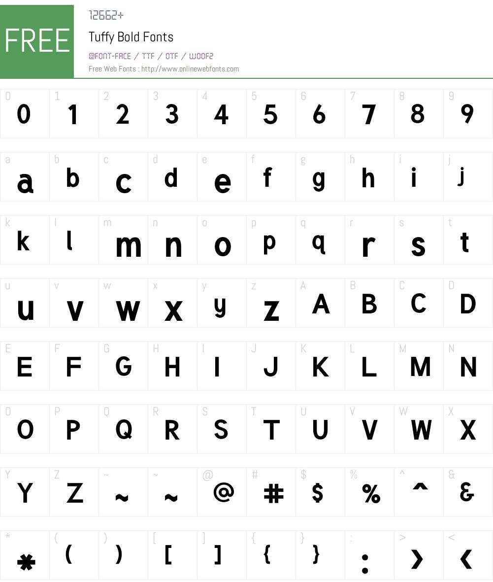 Tuffy Font Screenshots