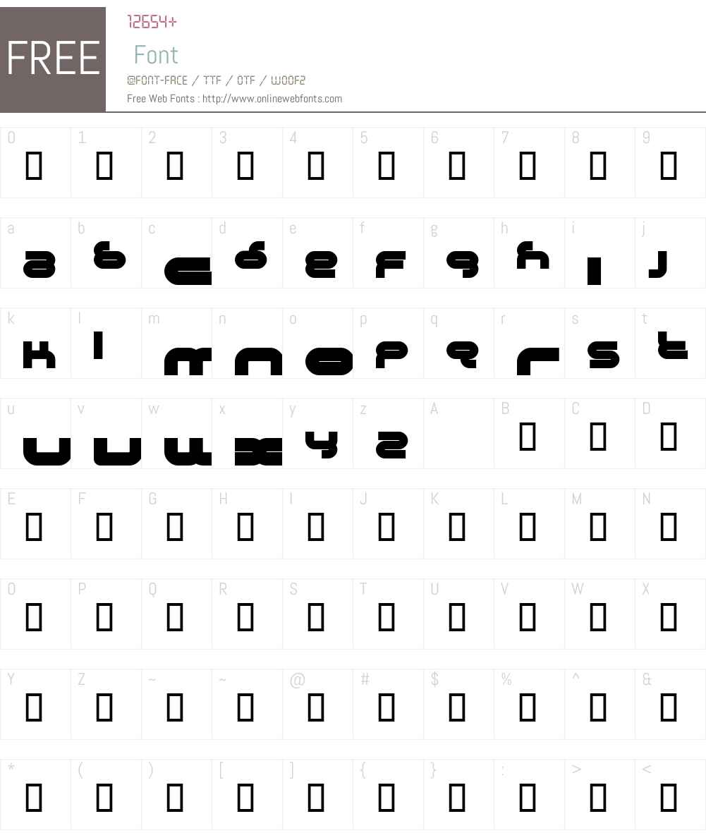 Crystalline Font Screenshots