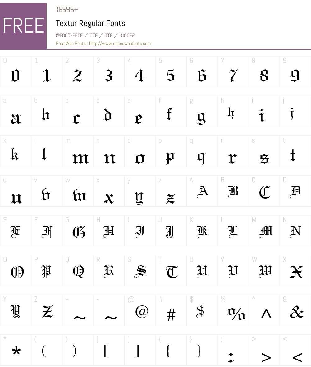 Textur Font Screenshots