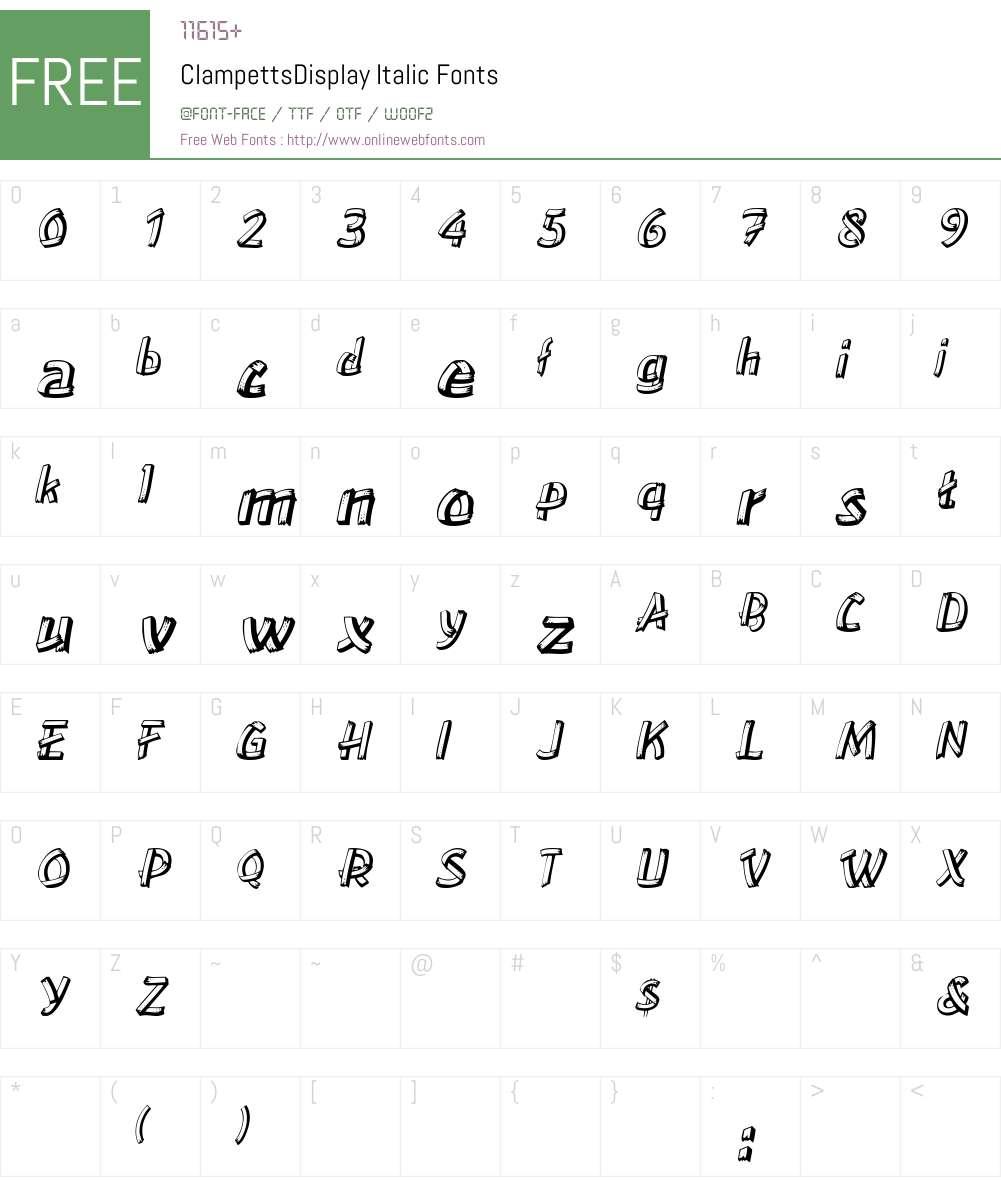 ClampettsDisplay Font Screenshots