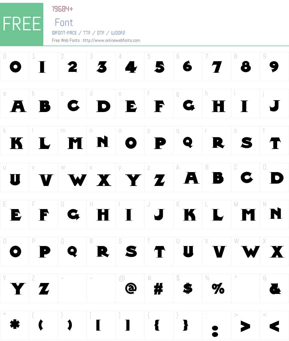Midland Rail NF Font Screenshots