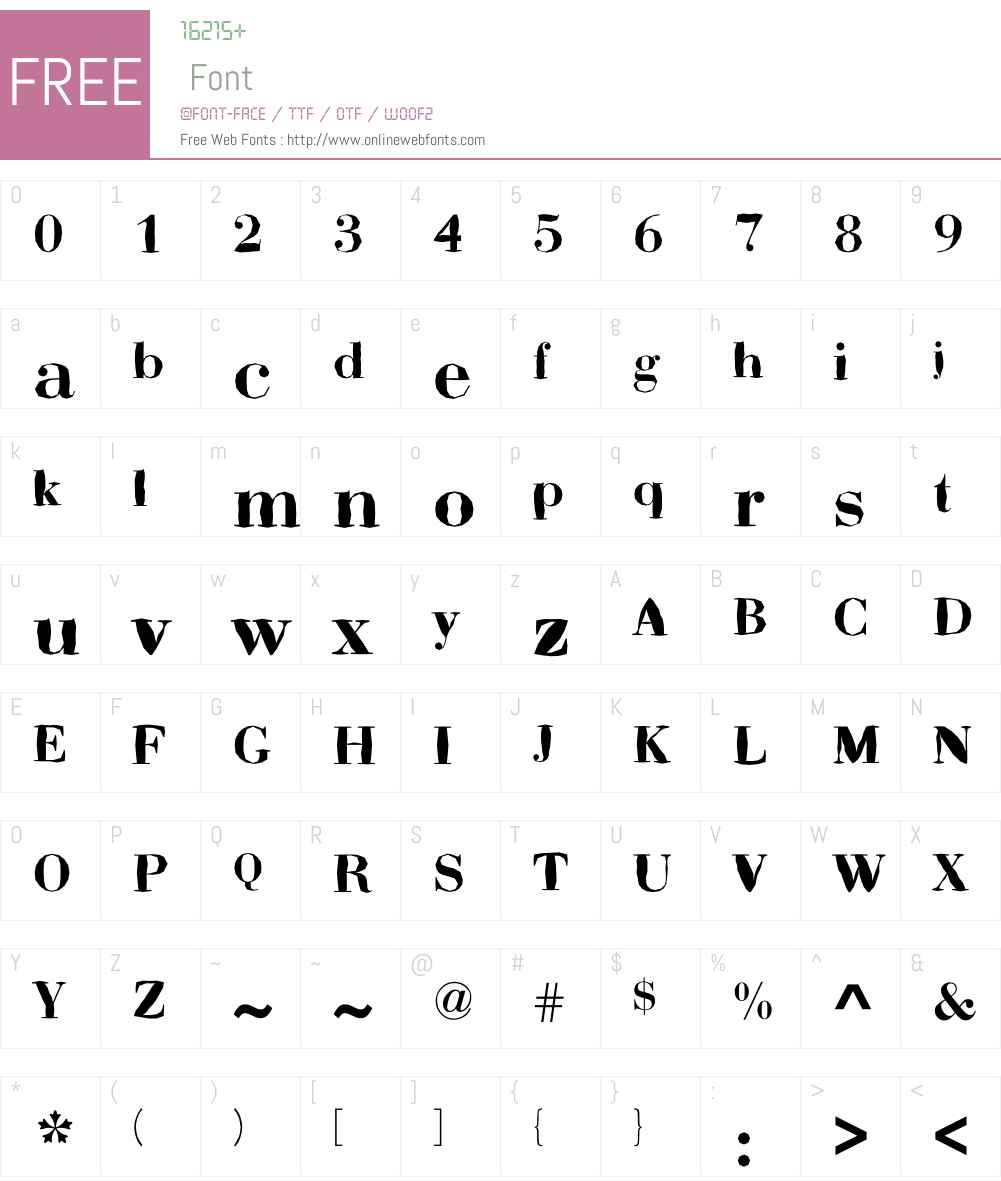 ABCTech Bodoni Mangle Font Screenshots
