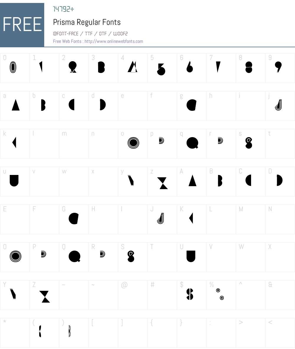 Prisma Font Screenshots