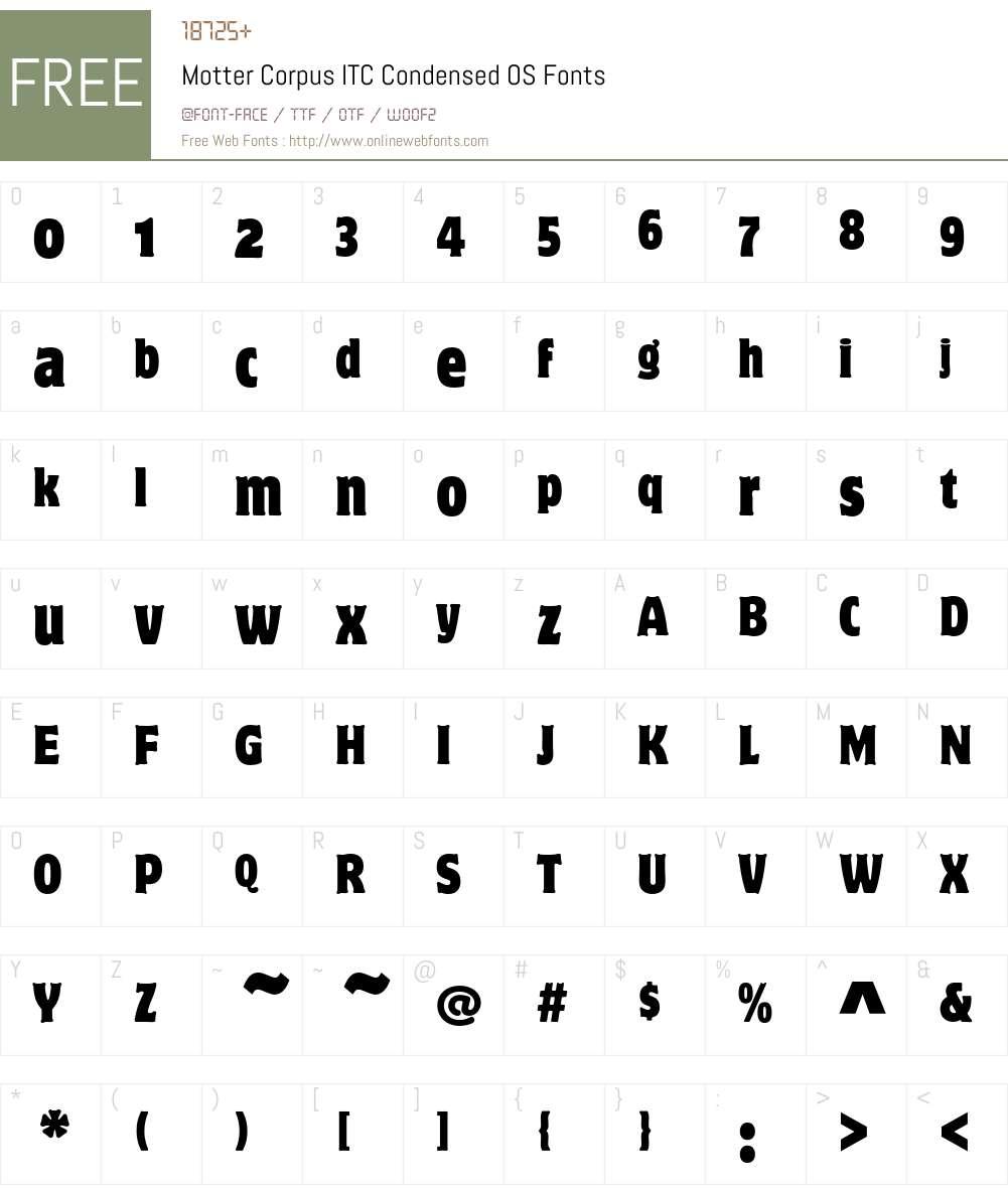 Motter Corpus ITC Font Screenshots