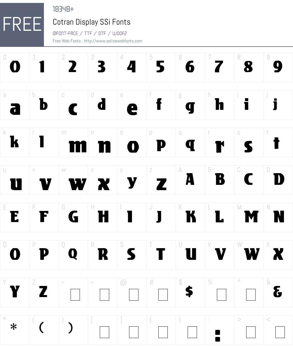 Cotran Display SSi Font Screenshots