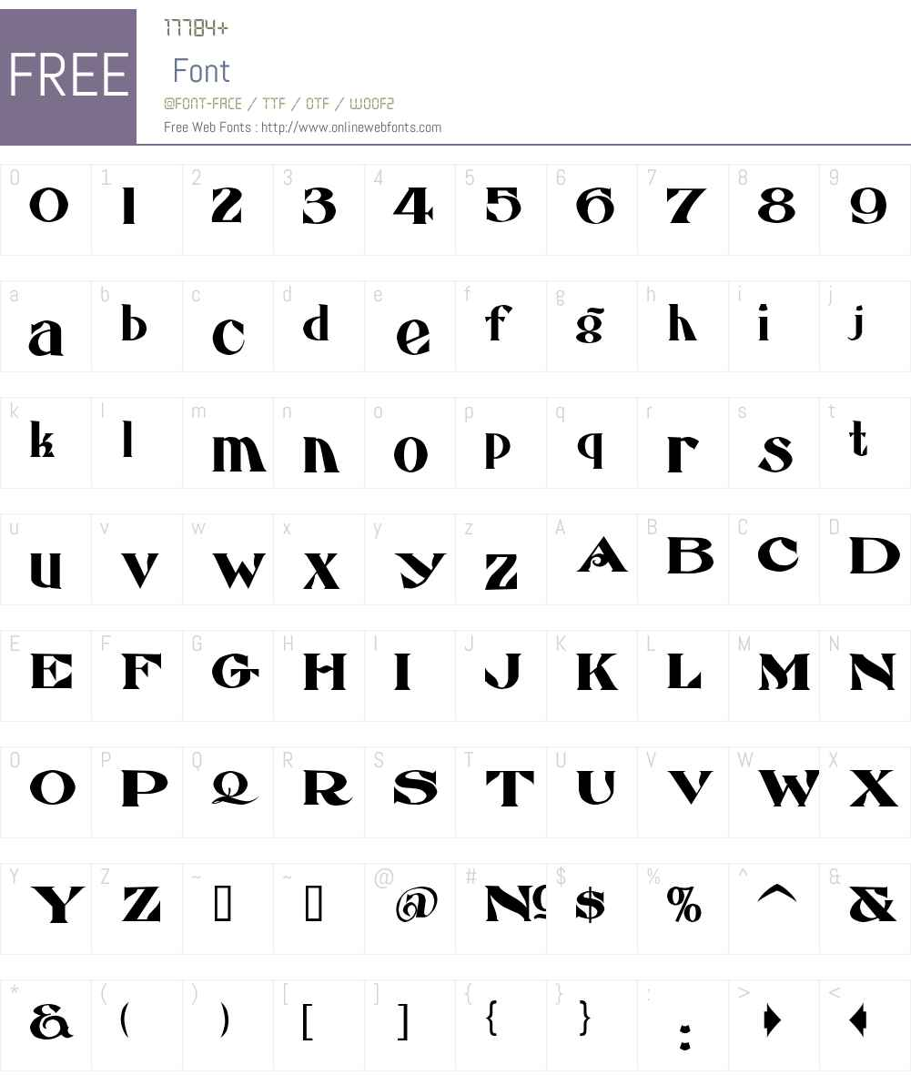 LHFEccentricFrench Font Screenshots