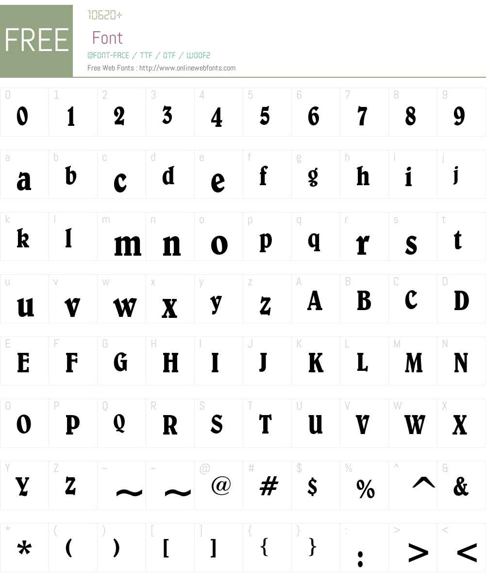 Belwe Font Screenshots