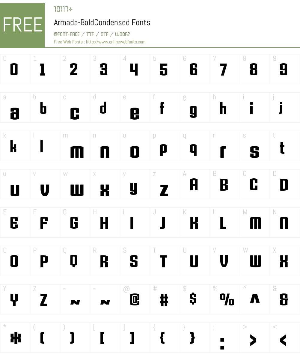 Armada Font Screenshots