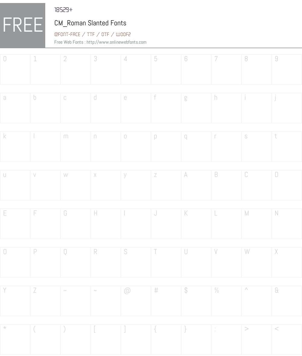CM_Roman Font Screenshots