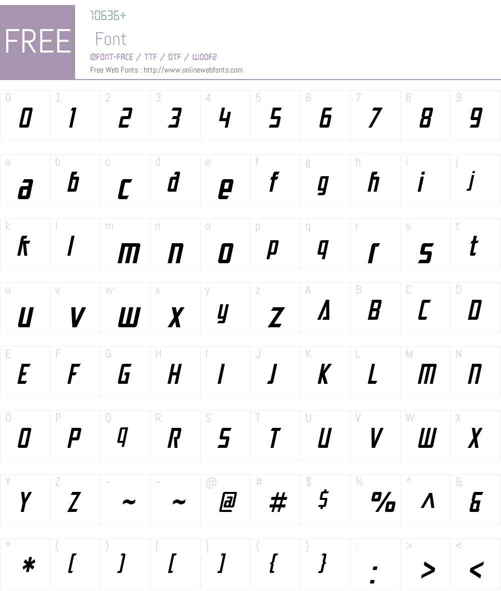 SF Electrotome Condensed Font Screenshots