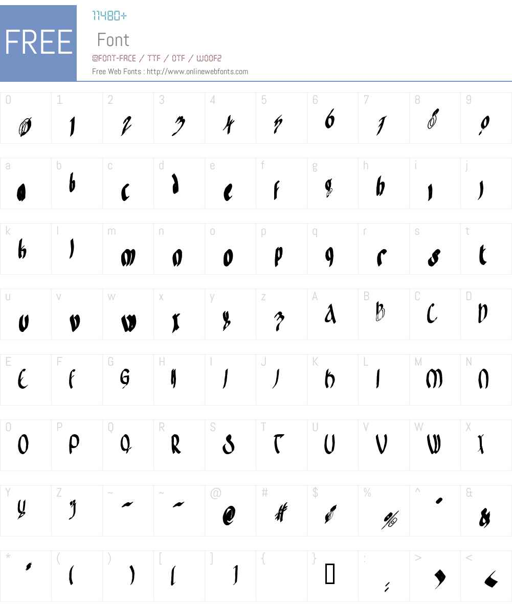 Frodo Ornate Font Screenshots