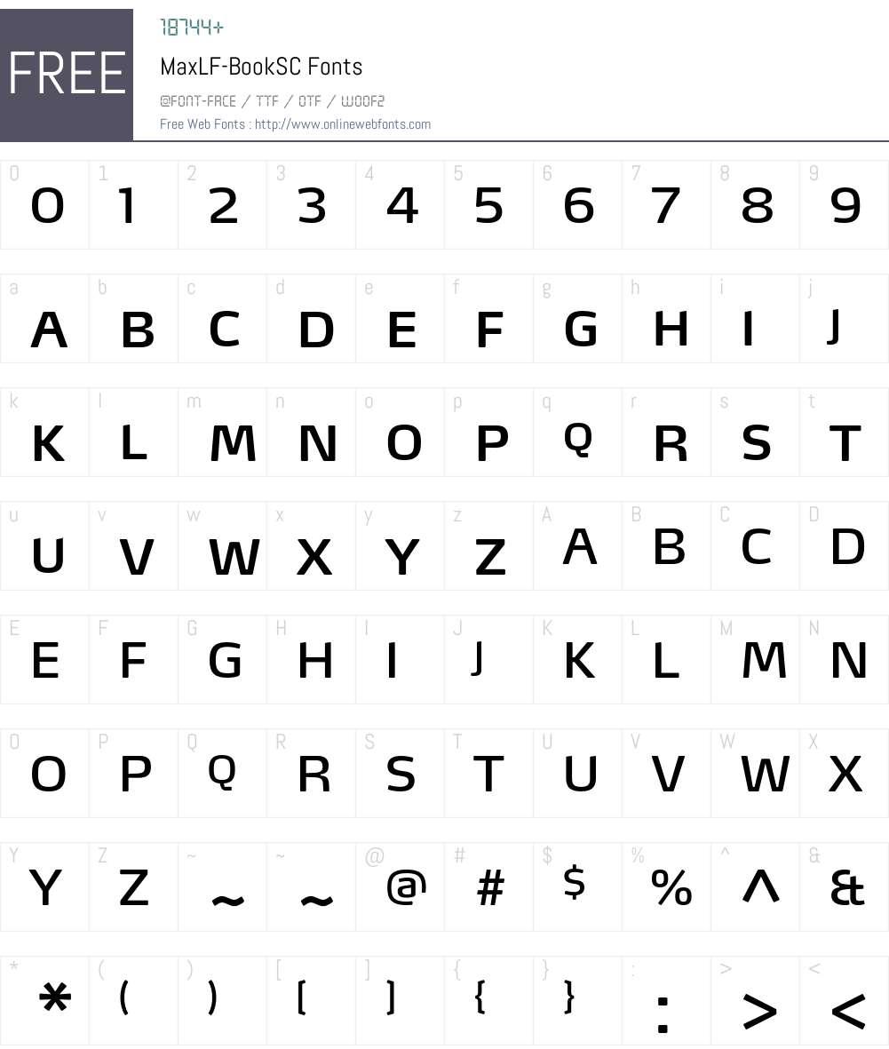 MaxLF-BookSC Font Screenshots