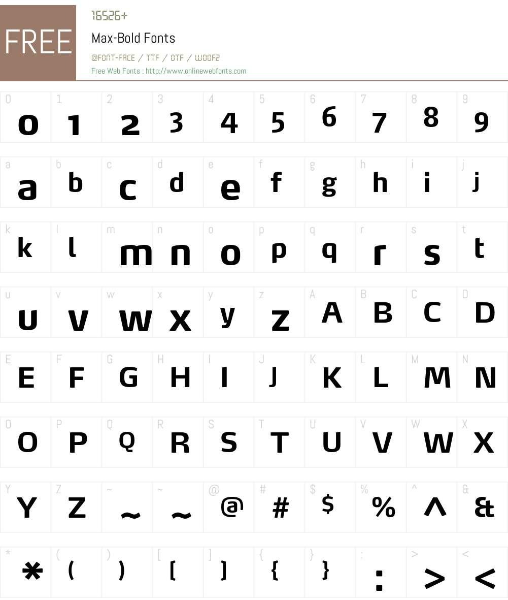 Max-Bold Font Screenshots