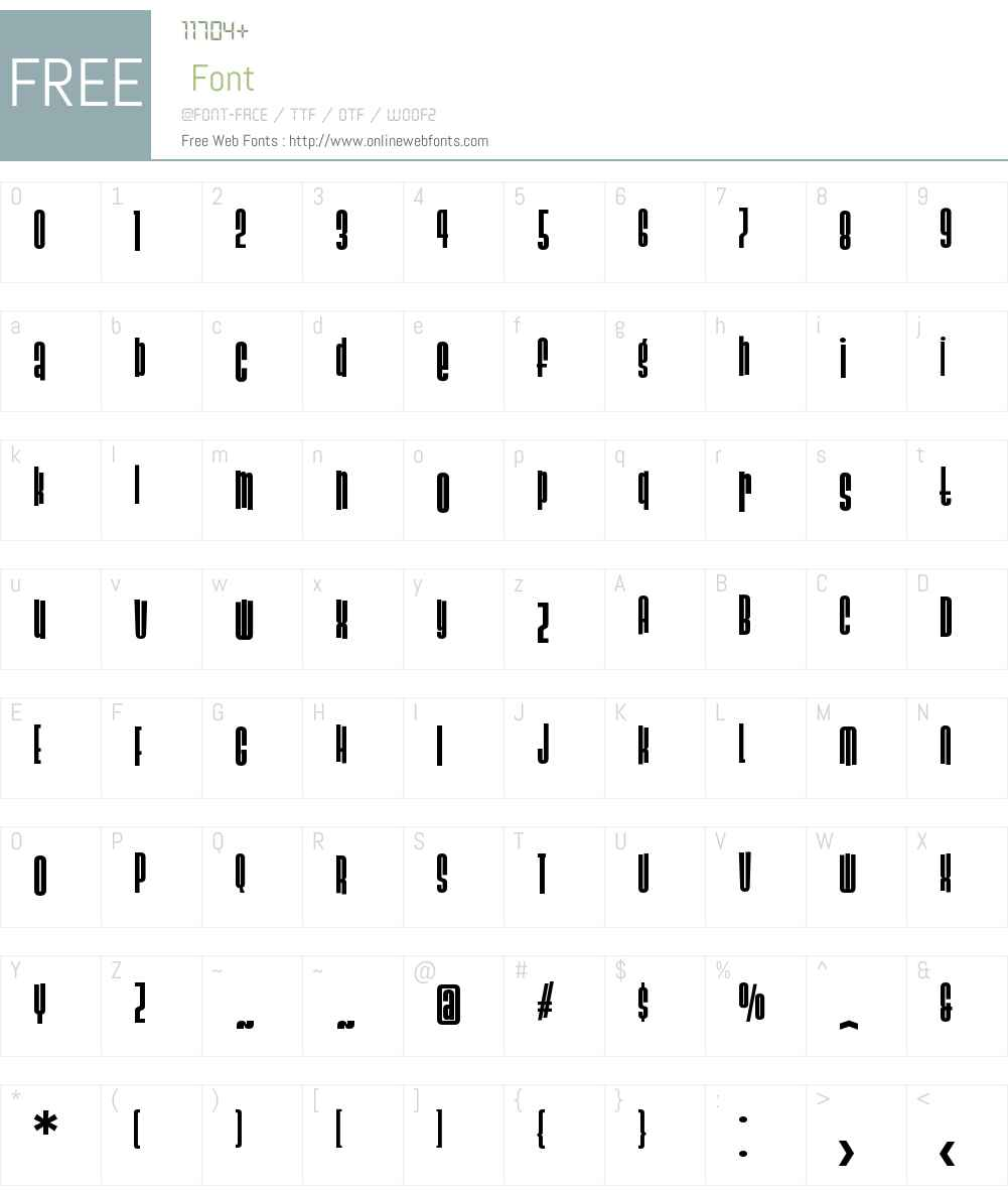 SlackCasualW00-Bold Font Screenshots