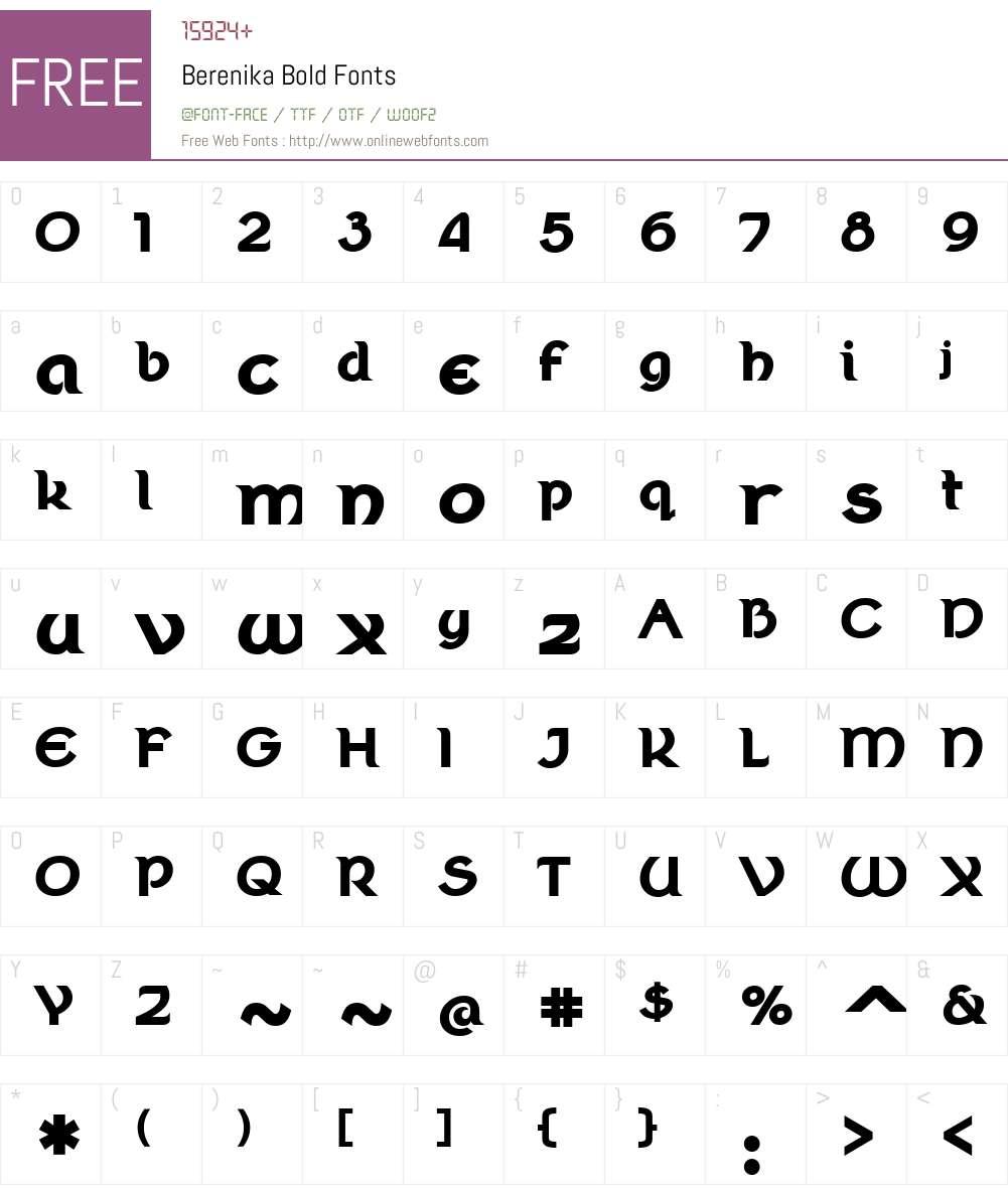 Berenika Font Screenshots