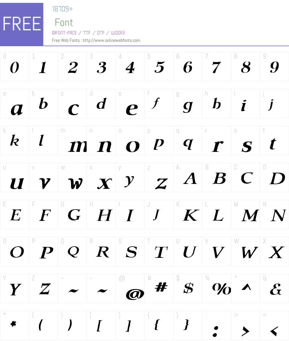 AmitaleWideW01-BoldItalic Font Screenshots