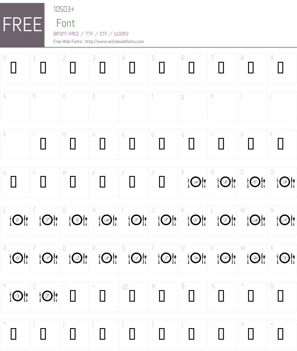AL Place Settings Letters Font Screenshots