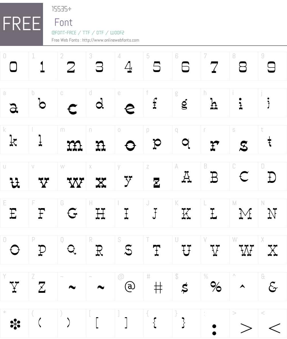 Luckyluke Font Screenshots