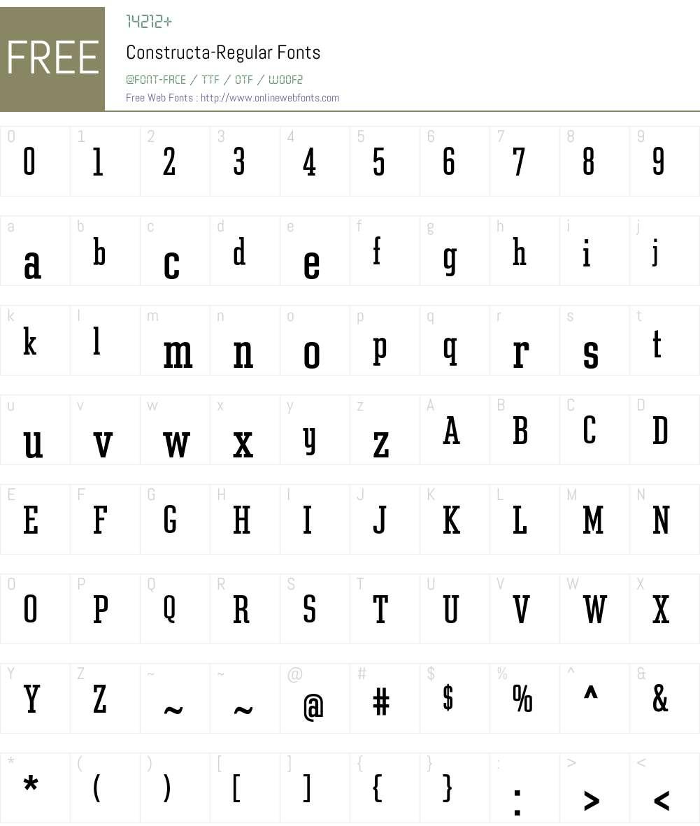 Constructa Font Screenshots