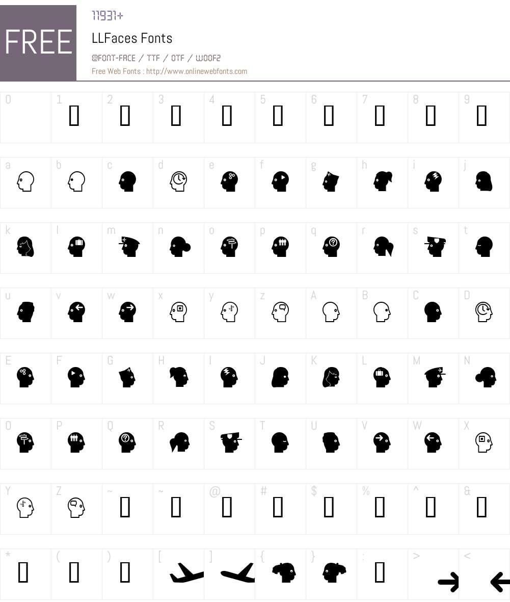 LLFaces Font Screenshots