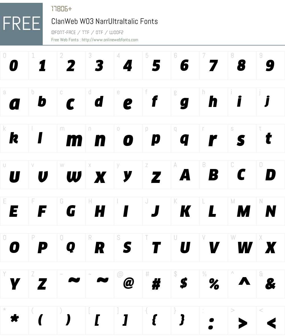 FF Clan Font Screenshots