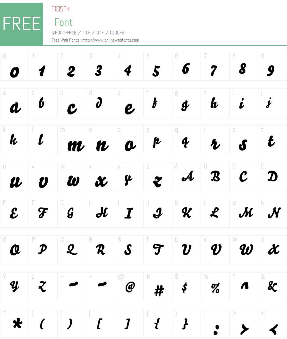 Bello Pro Font Screenshots