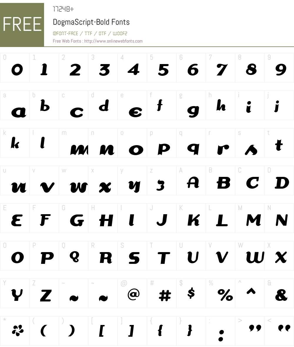 DogmaScript Font Screenshots