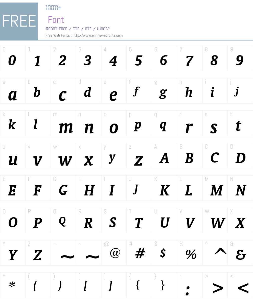Oranda BT Font Screenshots