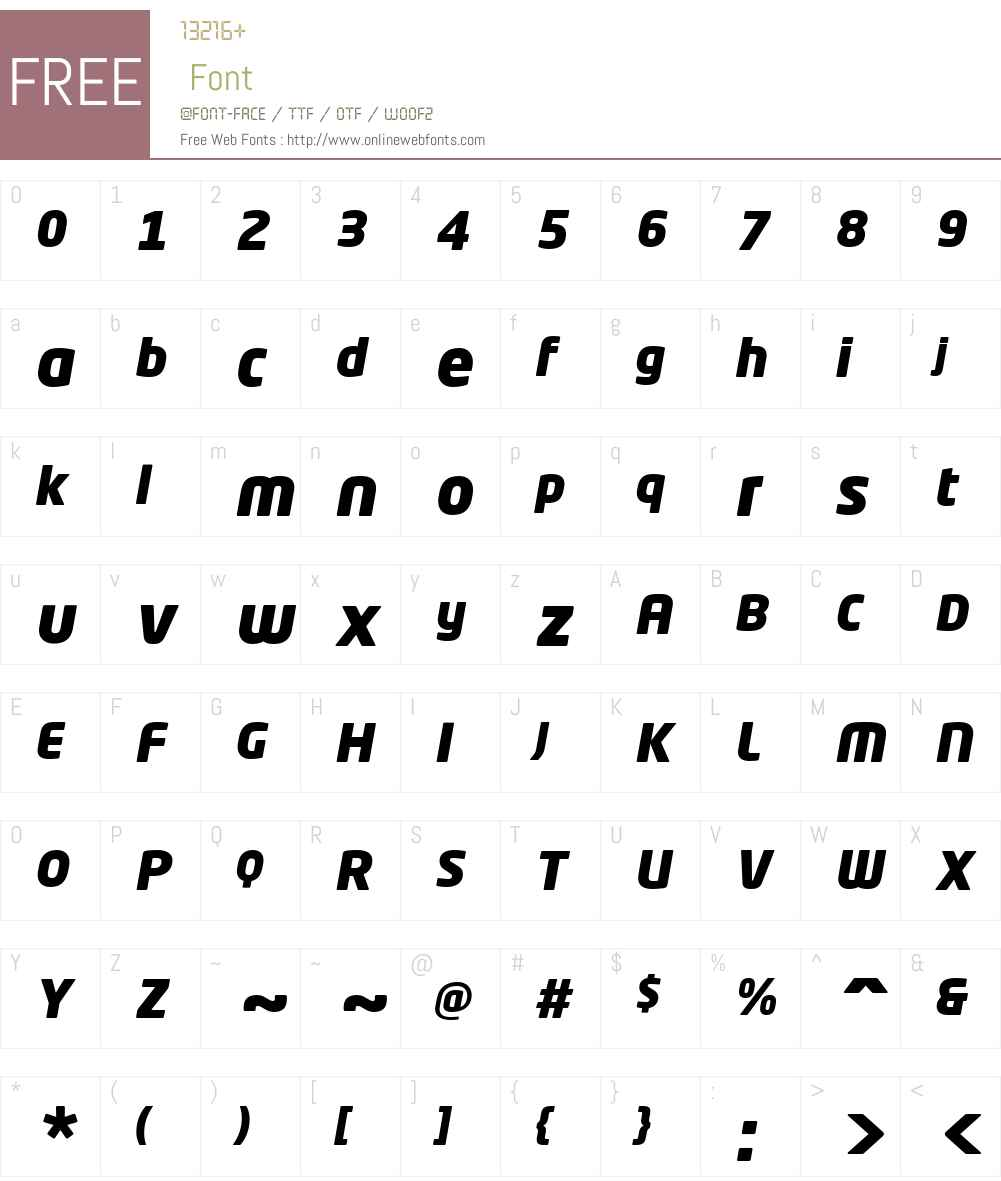 NeoTechW01-BlackItalic Font Screenshots