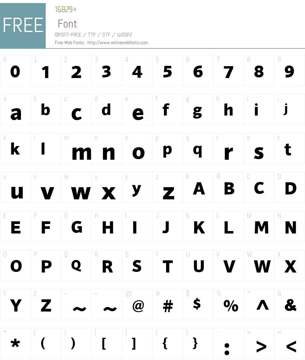 HT Sonus Font Screenshots