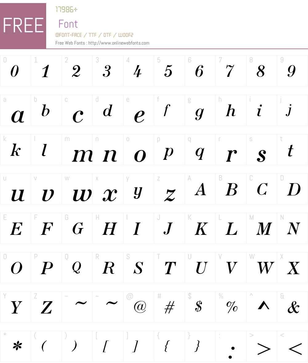 SeiziemeW01-RegularItalic Font Screenshots