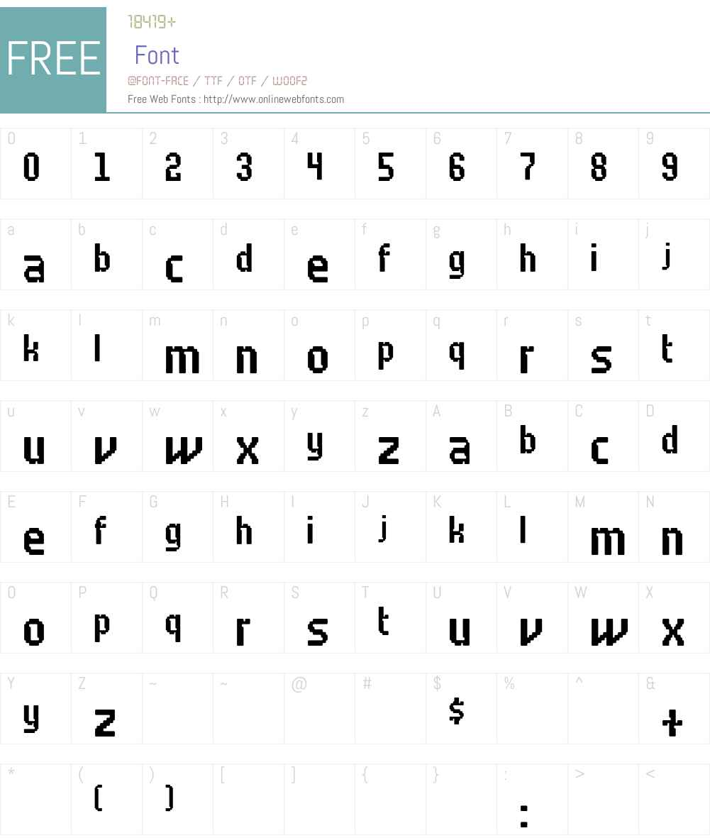 Fodor Font Screenshots