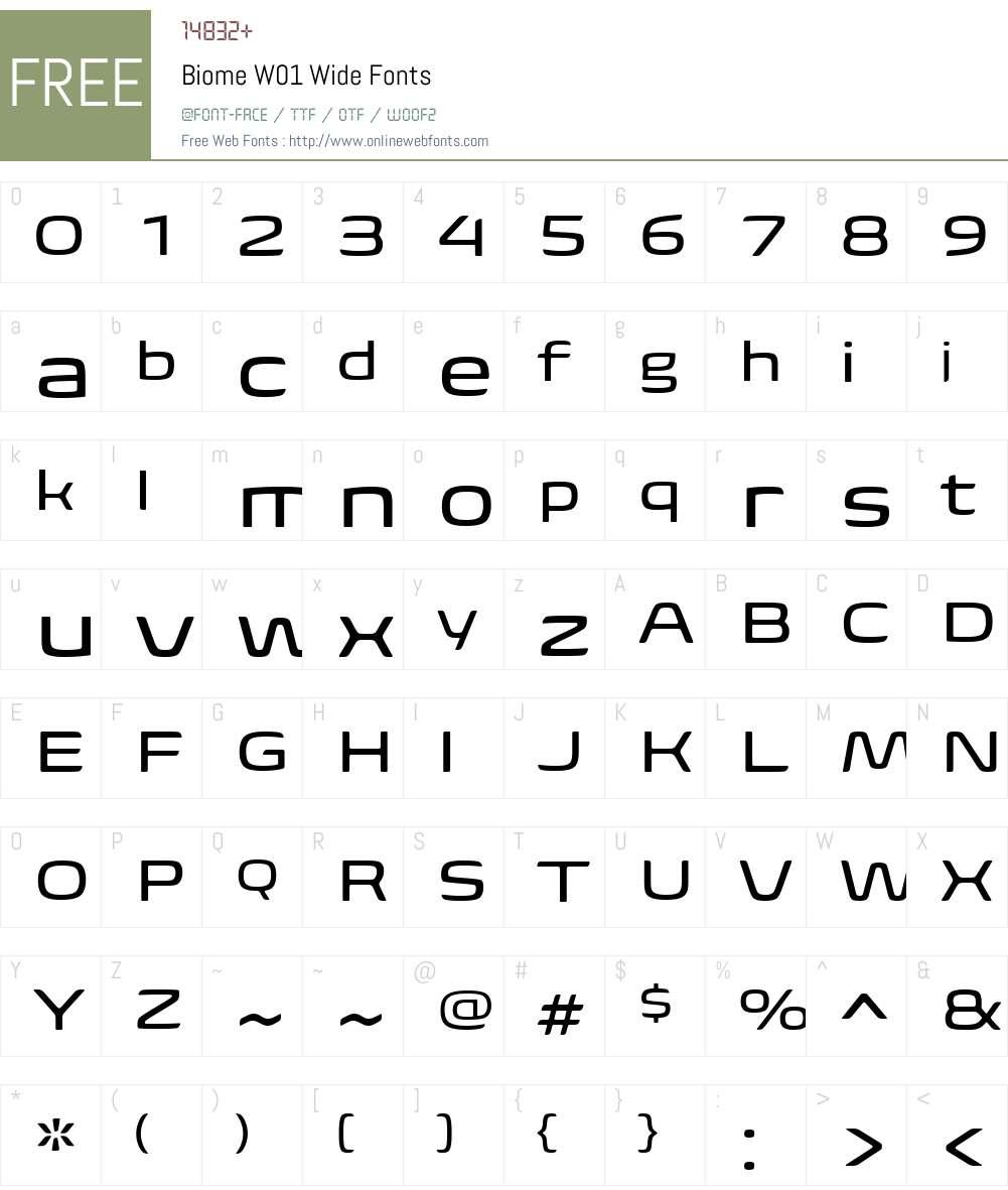 BiomeW01-Wide Font Screenshots