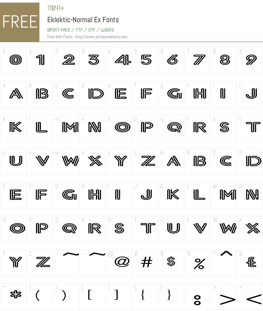Eklektic-Normal Ex Font Screenshots