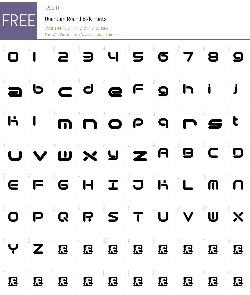 Quantum Round BRK Font Screenshots