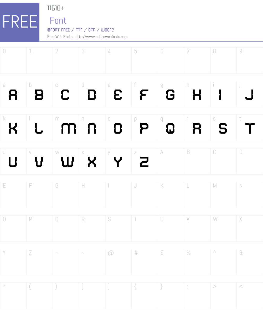 Rixon Font Screenshots