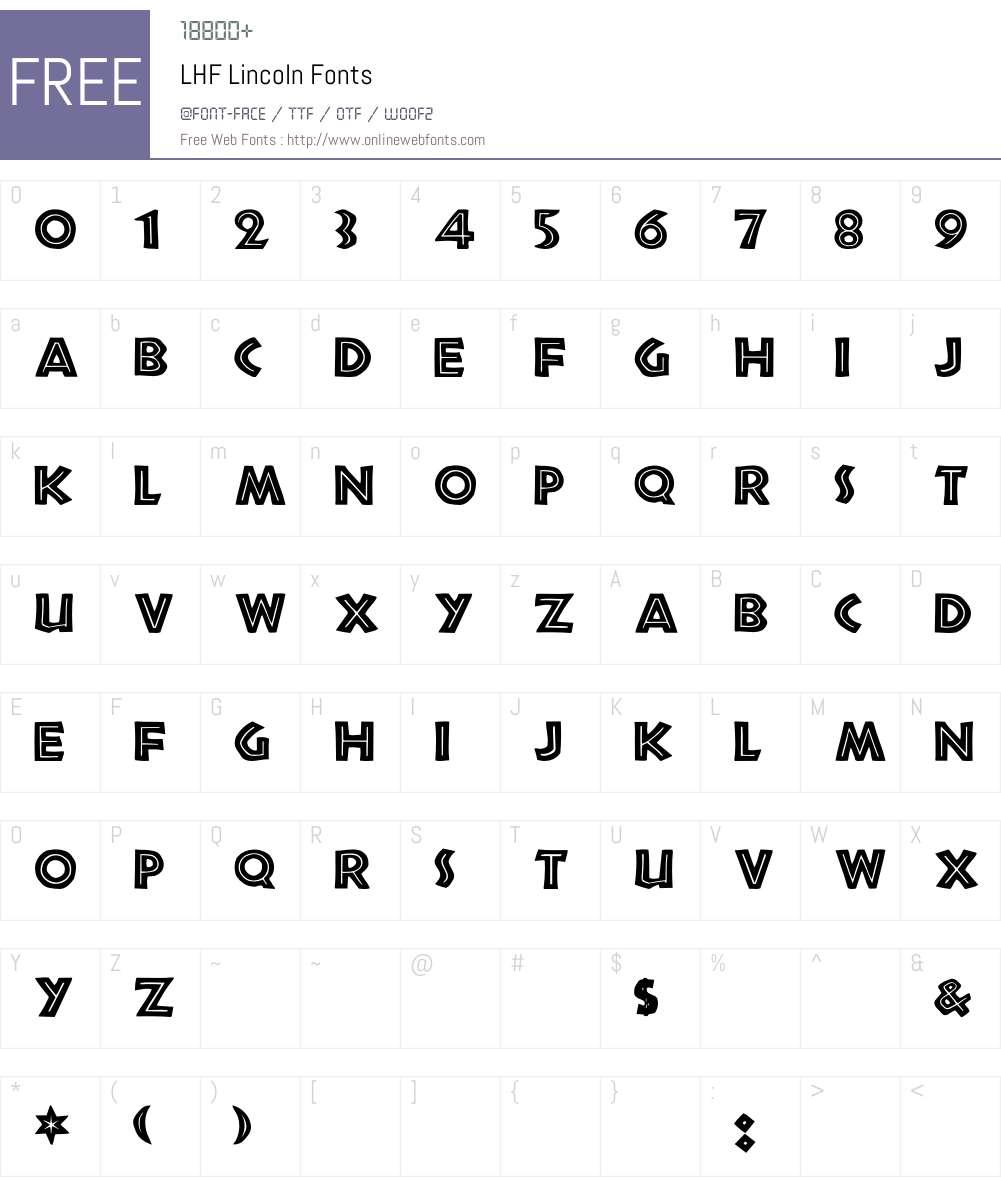 LHF Lincoln Font Screenshots