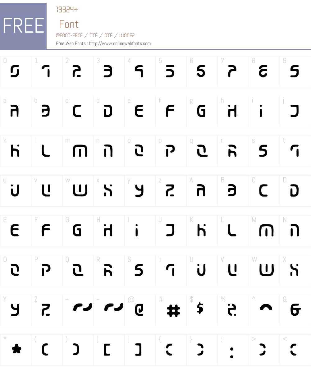 Eroded Font Screenshots