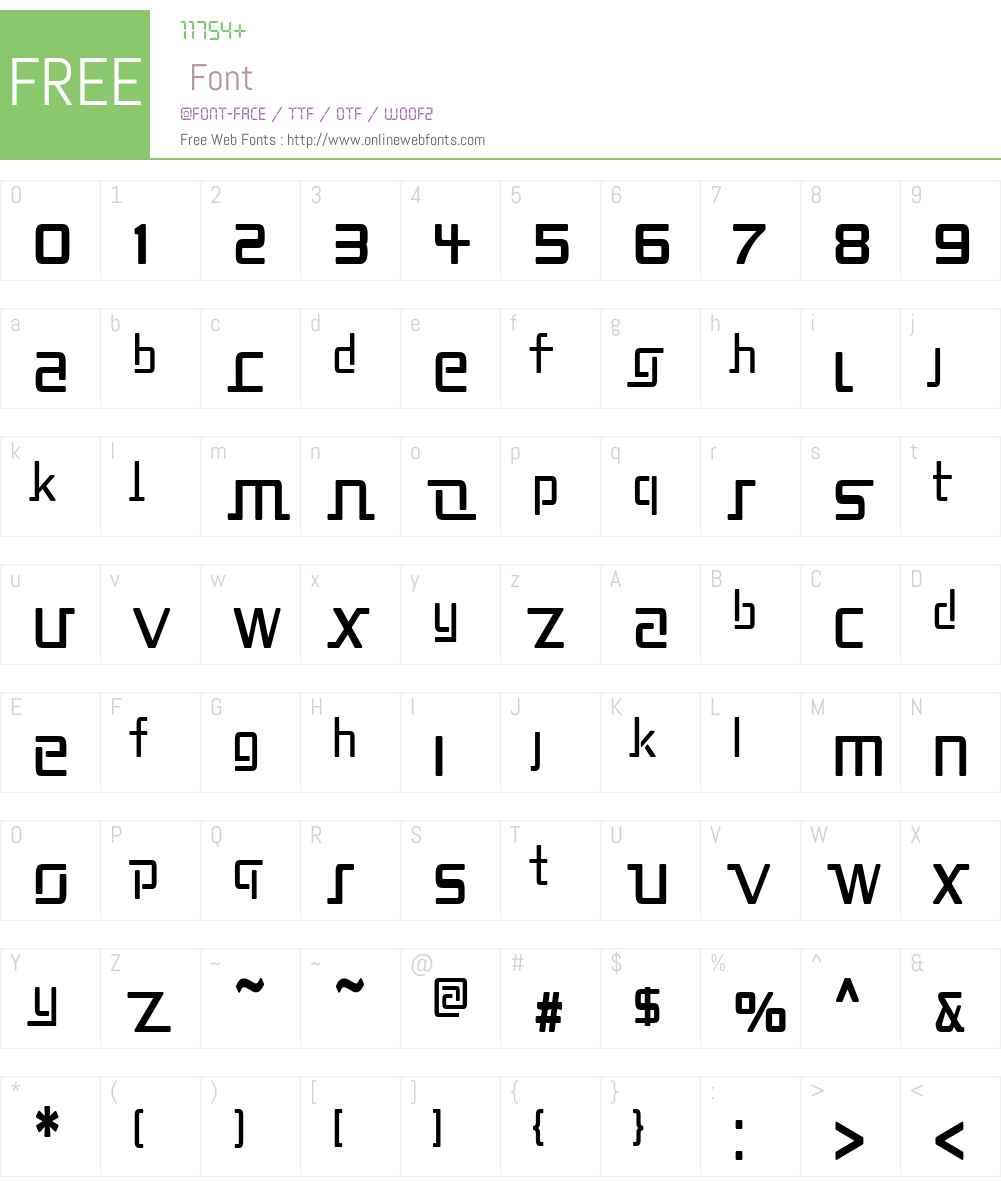 Republika II Cnd Font Screenshots