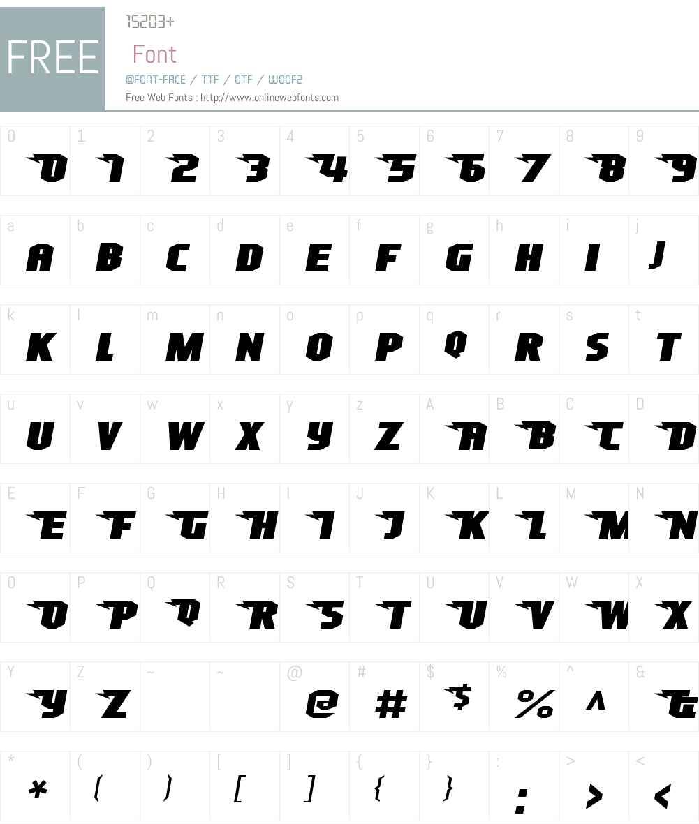 Superheterodyne Font Screenshots