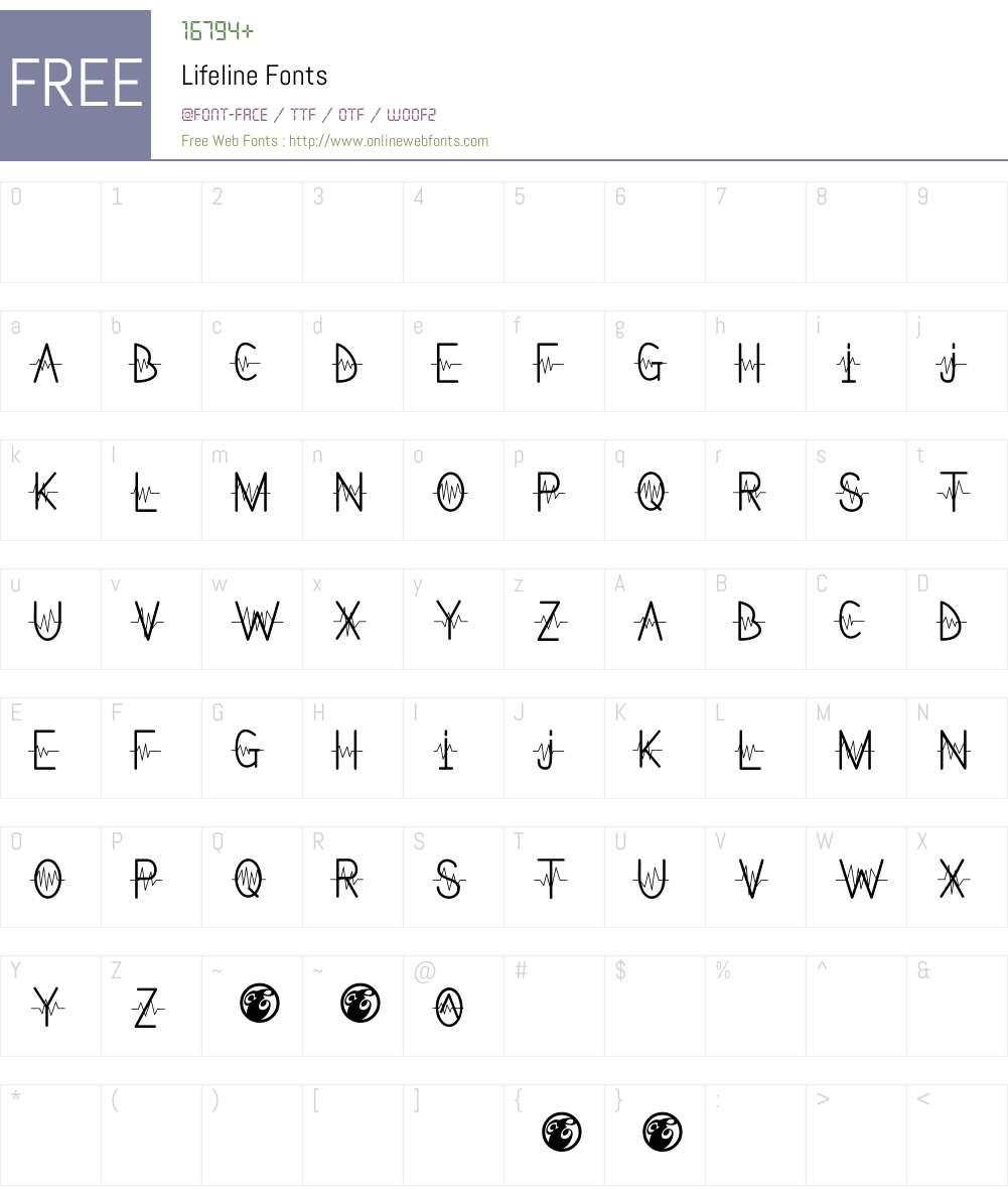 Lifeline Font Screenshots