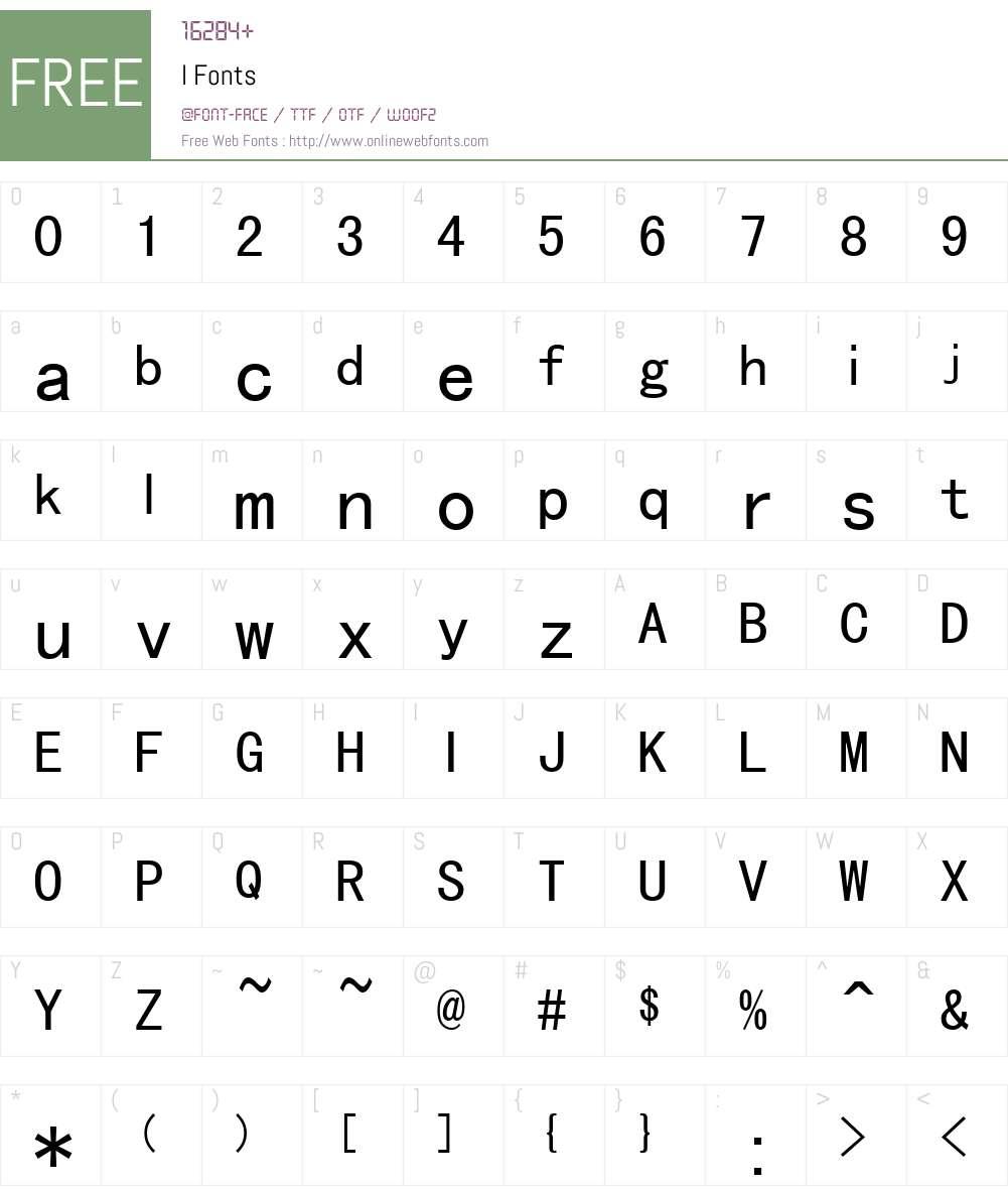 l Font Screenshots