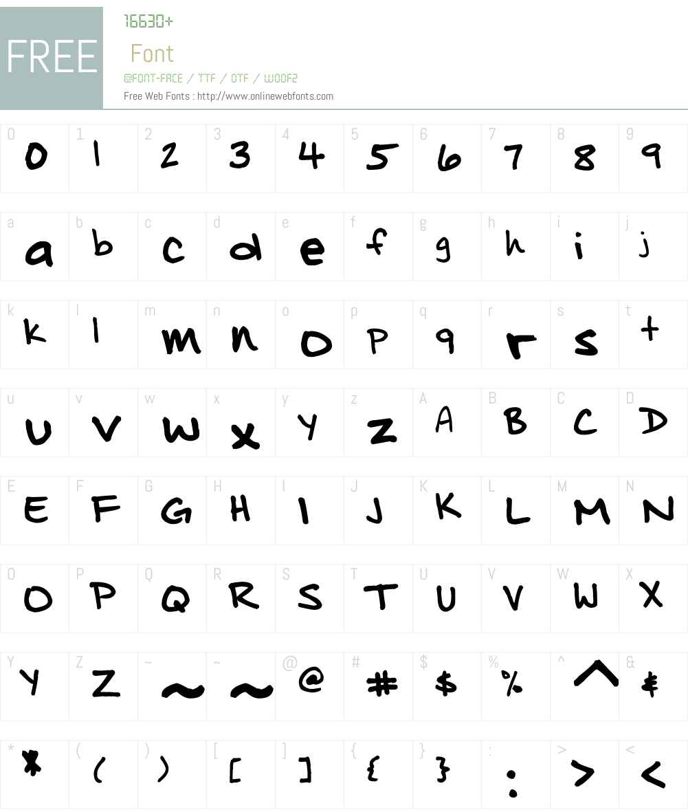 Distinctly Dan Font Screenshots