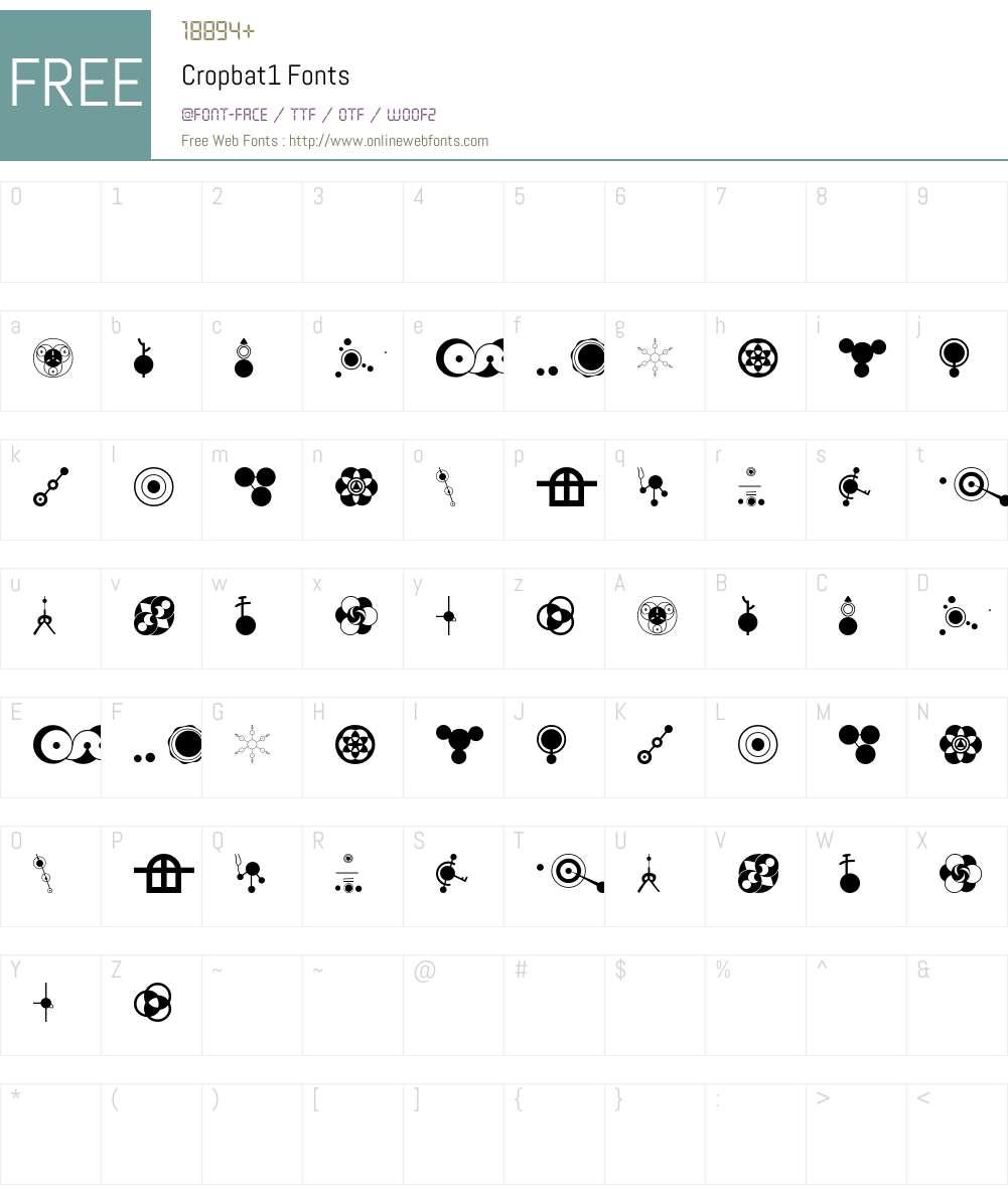 Cropbat Font Screenshots
