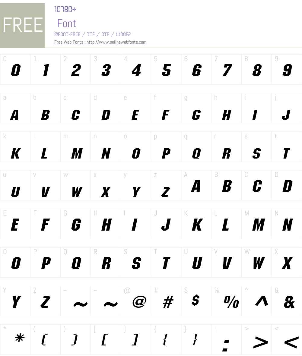 Block Wide Font Screenshots