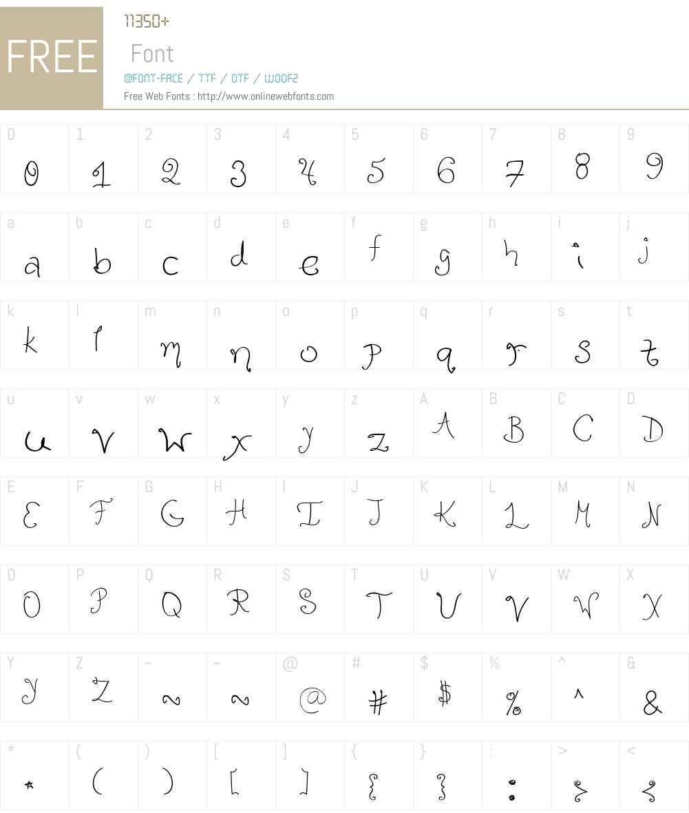 Lula Font Screenshots